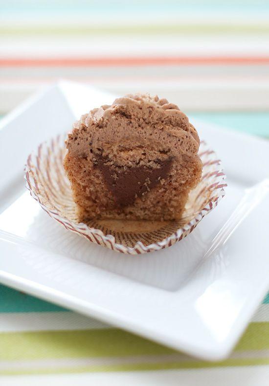 Cinnamon Chocolate Churro Cupcakes