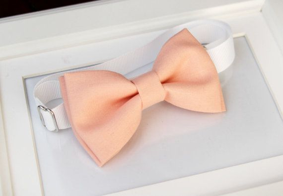 Peach bow-tie for baby toddler teens adult  Adjustable