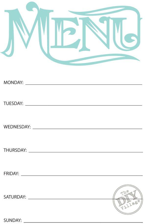 25+ unique Weekly menu ideas on Pinterest Weekly dinner menu - weekly menu