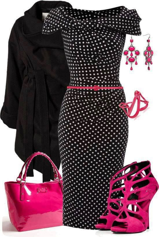 Black,white and pink Outfit