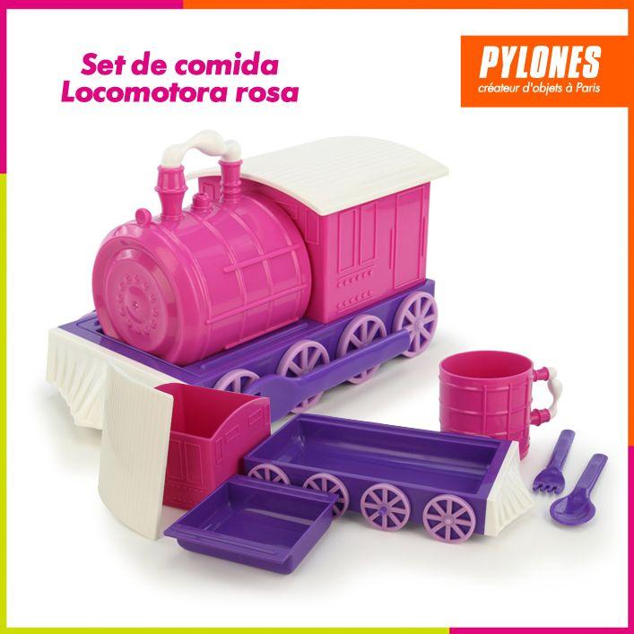 Set de locomotora rosa #DíaDelNiño #FelizDíadelNiño @pylonesco
