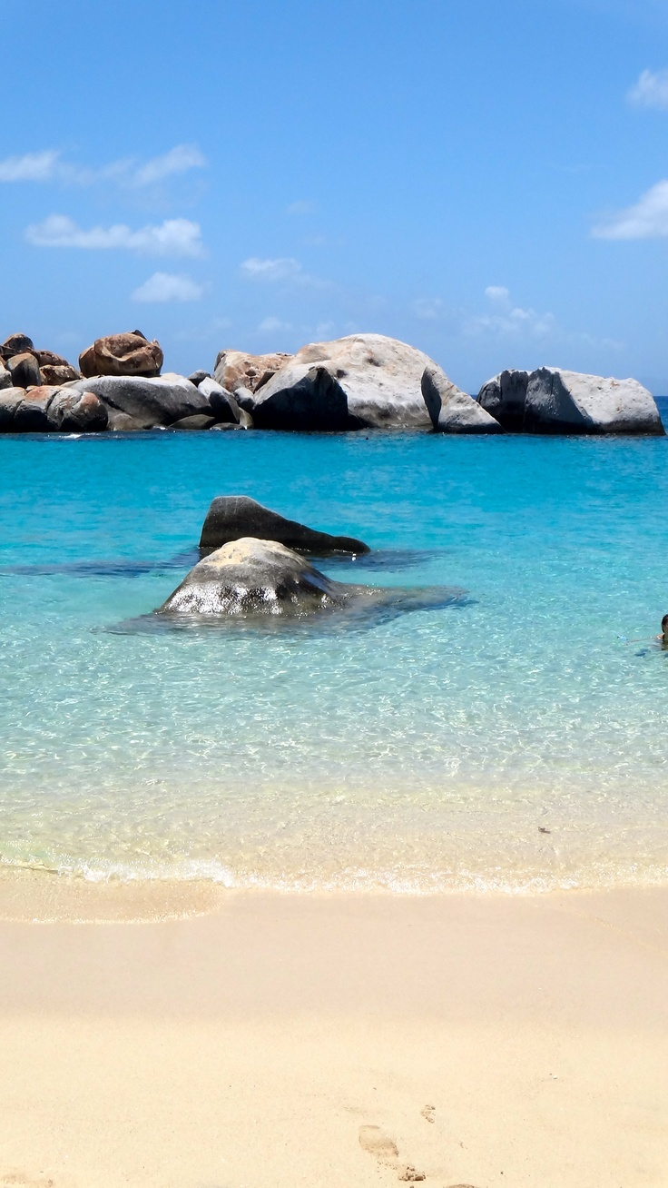 British Virgin Islands | Located in the island of Virgin Gorda, The Baths are both an official National Park known for snorkeling excursions & unique geological formations, and a relaxing, seclued beach locale.