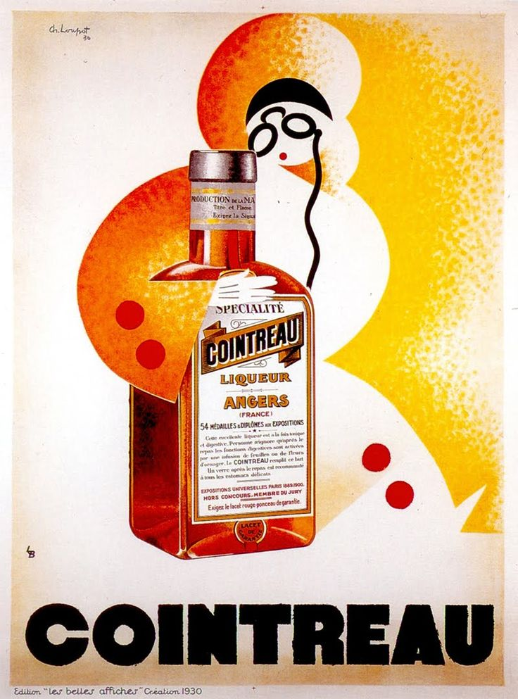 Cointreau vintage advertising poster (1930) - by Charles Loupot