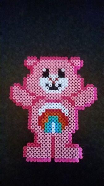 Care Bear perler beads by Perlerwonders