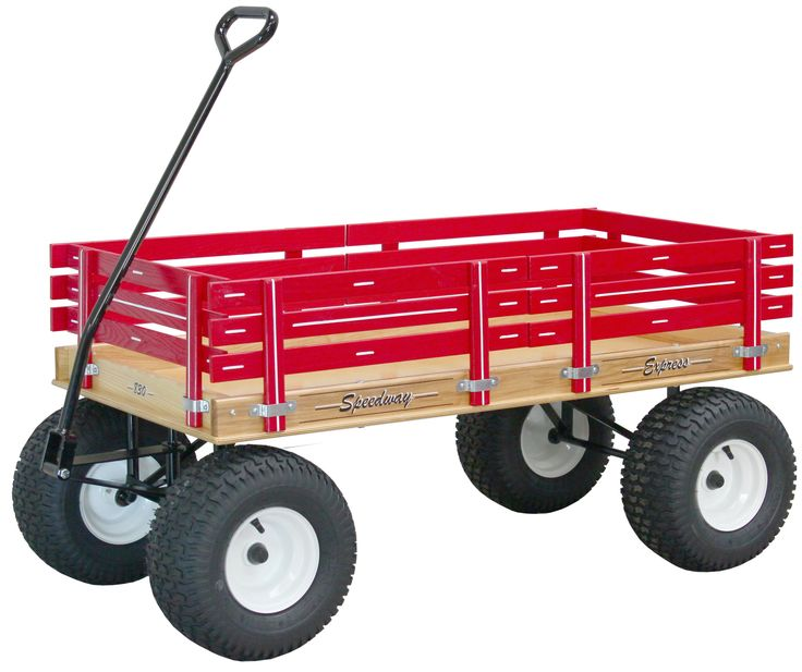 Large Amish Beach Garden Wagon With 6 Wide Off Road