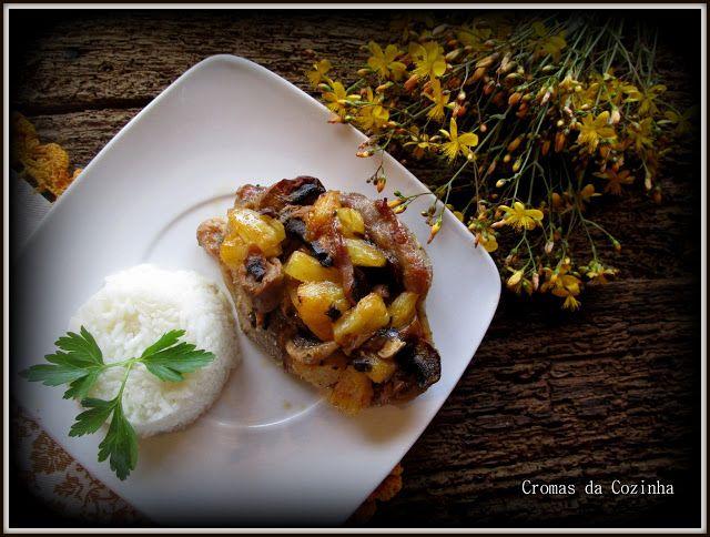 cromas da cozinha: Costeleta de Peru com Mostarda, Cogumelos frescos ...
