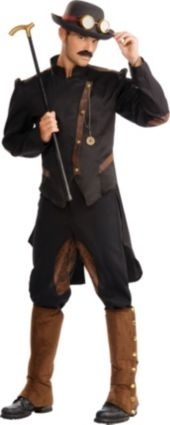 Adult Steampunk Gentleman Costume, $49.99 -- Party City online (jacket & pants only)