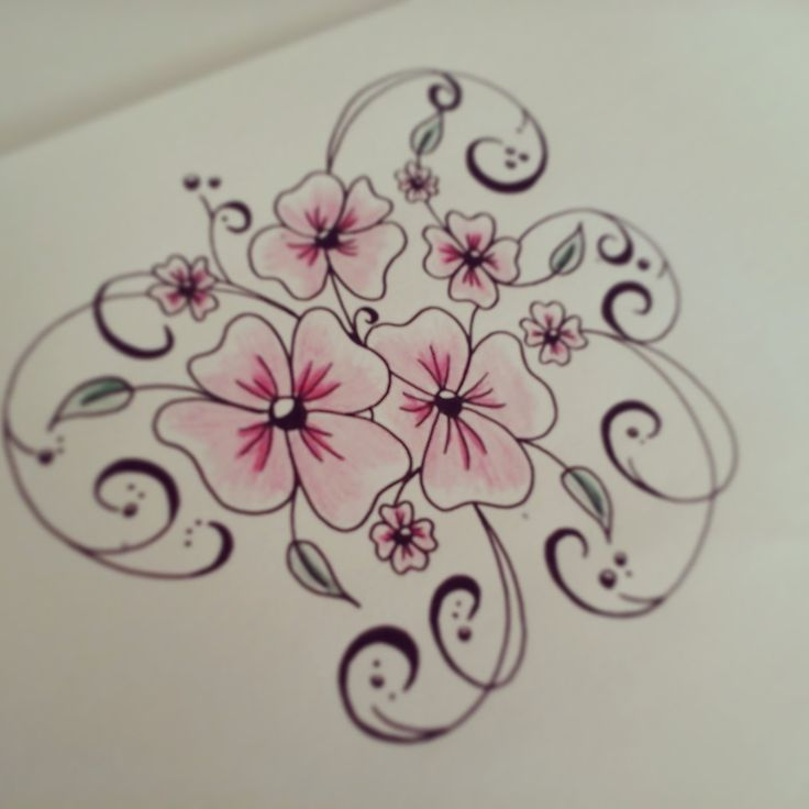 25 best ideas about easy to draw flowers on pinterest