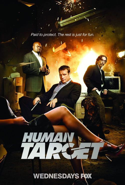 Human Target.  Mark Valley and Jackie Earle Haley