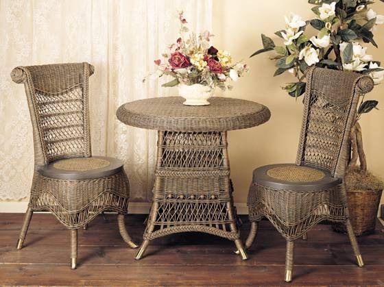 Плетеная мебель - уютный уголок для чаепития