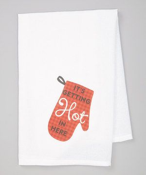 Love this Red 'Getting Hot in Here' Towel by Love you a Latte on # ...