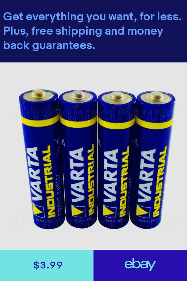4 X Varta Aaa Batteries Alkaline Industrial Lr03 Micro 4003 Mn2400 Free Shipping Consumer Electronics Consumers Batteries
