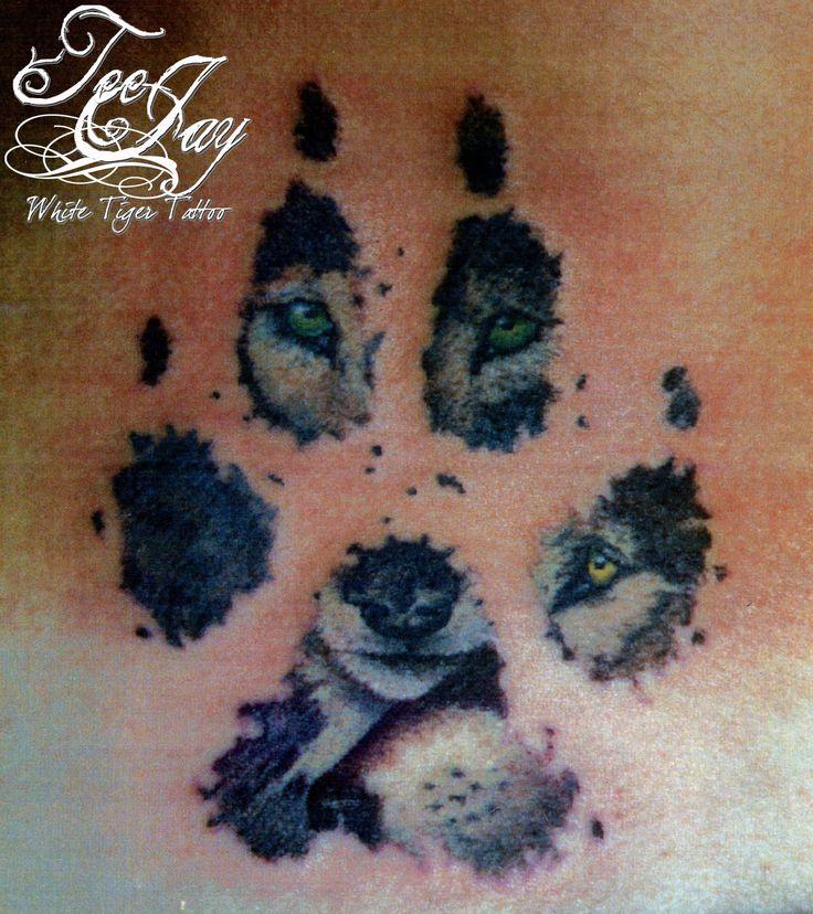 die besten 25 wolf pfote tattoos ideen auf pinterest. Black Bedroom Furniture Sets. Home Design Ideas