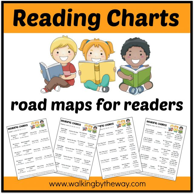 Reading Charts - Road Maps for Readers (how to get your child from beginning reading to fluently reading chapter books and beyond)