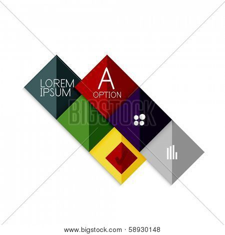 Creative paper flat geometric shape banner template. For business / technology presentation or web design Poster