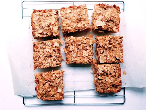 Coconut Dream Bars, a recipe on Food52- all you have to do is replace the butter with earth balance or Nutiva and POOF its vegan!