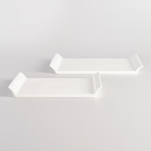 White Porcelain Serving Tray | World Market