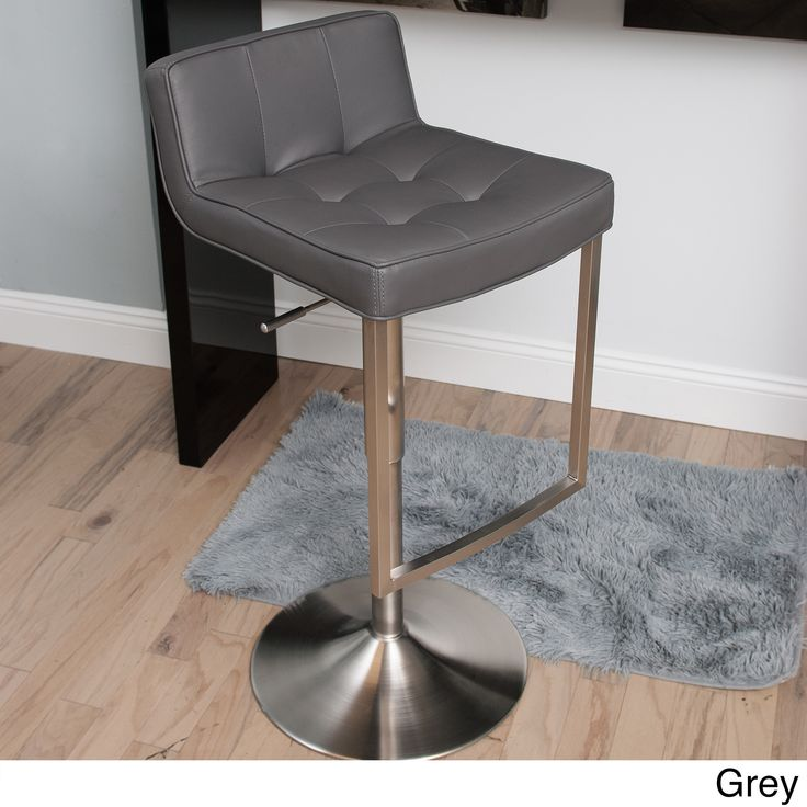 Gray Bar Stool This Slick Stylish Barstool Features A