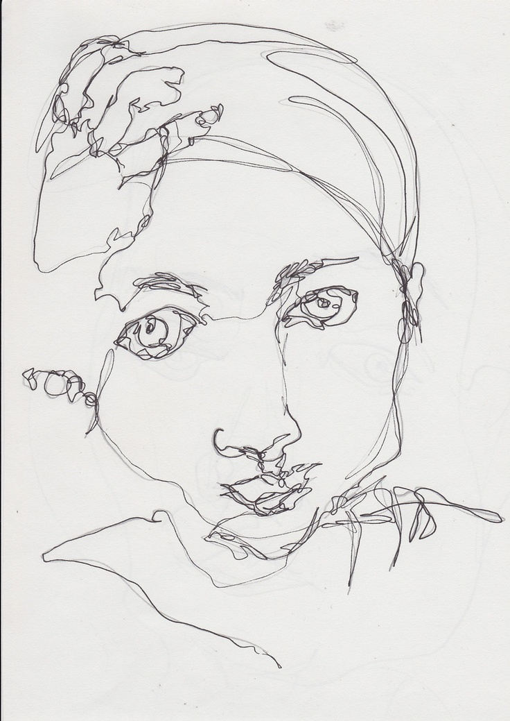 Contour Line Drawing Portrait : Best images about contour line on pinterest