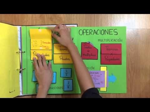 Lapbook de matemáticas para primaria - YouTube