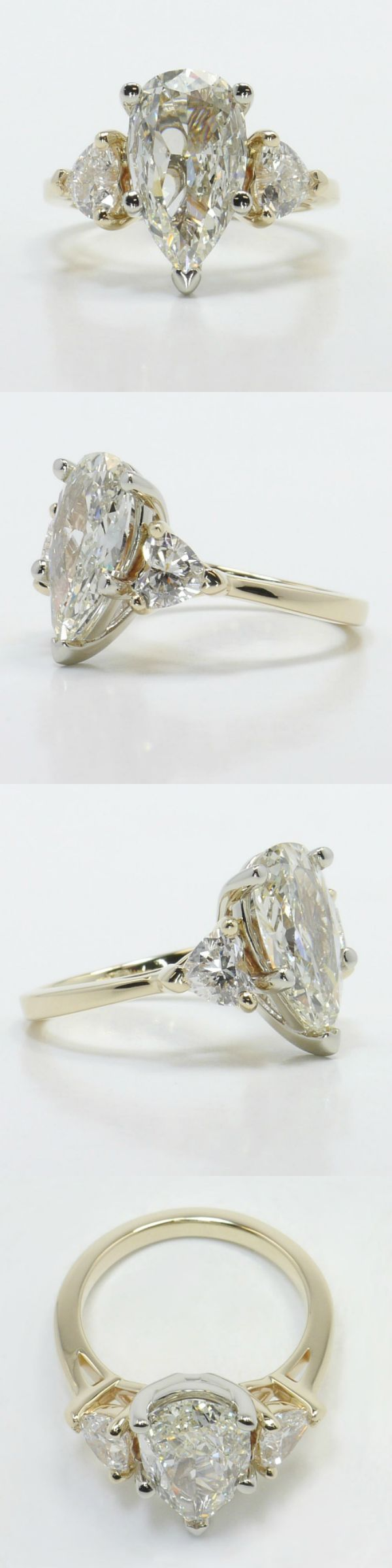 One Pear and Two Hearts Diamond Engagement Ring!