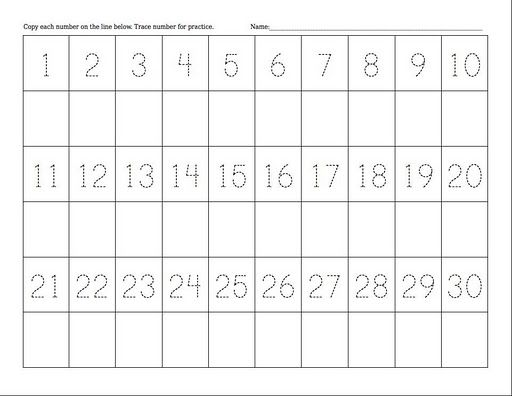 Writing Numbers 1-100 Worksheets