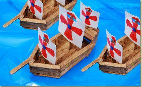 Wood Stick Ship - craft project ideas
