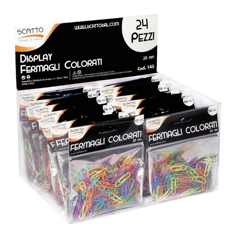fermagli colorati fluo
