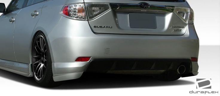 2008-2010 Subaru Impreza WRX 5DR Duraflex C-Speed Rear Add On Bumper Extensions - 2 Piece (Overstock)