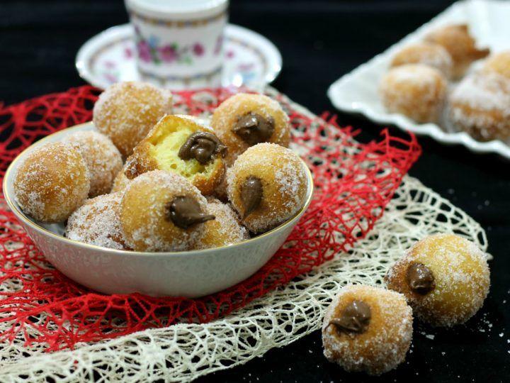 CASTAGNOLE MASCARPONE E NUTELLA dolci fritti di Carnevale