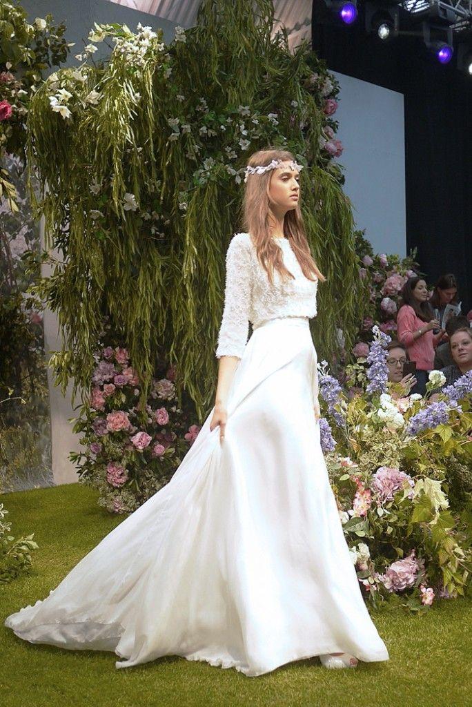 Two Piece Wedding Dress   Stephanie Allin Snowflake Shrug and Skirt