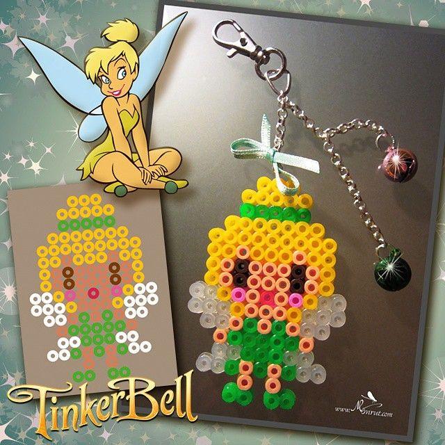 Tinker Bell hama beads by Creaciones Monrut