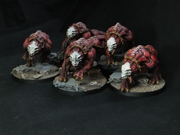 #Barghest #Fiends painted by John Marsden, winner of our June Monthly #Painting #Competition. #PuppetsWar
