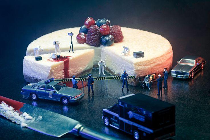 -Nicolas Knepper (photographe) & Création Original Elisabeth Biscarrat- (Gagnante de l'Emission Masterchef. 2011)-  *Holly Food  'scène de cream'  *Cheesecake -coulis de fruits rouges