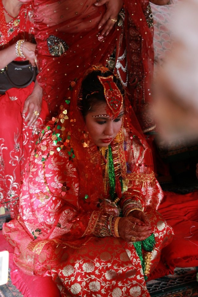 Nepali bride during the wedding ceremony!!