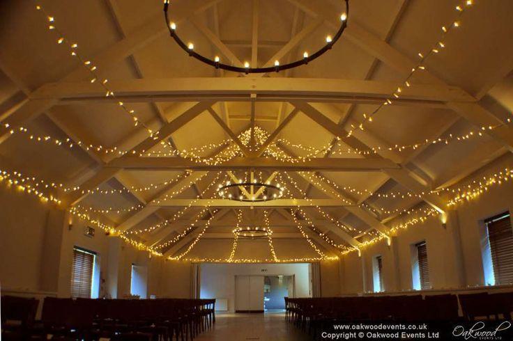 Fairy light star canopy, warm white lights