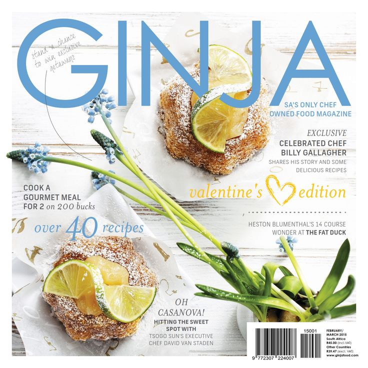 February March edition of GINJA Magazine on sale nationwide from 26 January 2015. Available in print and digital. from www.ginjafood.com