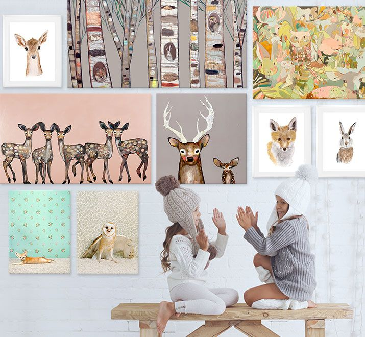 Shop woodland wall art for nurseries and kids rooms from oopsy daisy fine art for