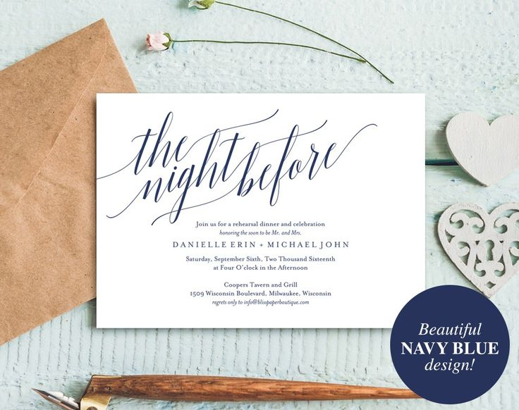 Best Rehearsal Dinner Invitations Images On