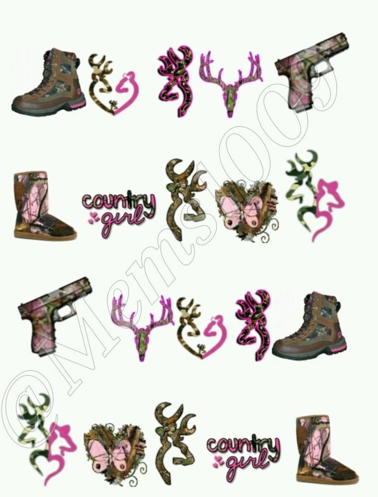 Camo Nail Art (water decals) Country Nail decals. Free Shipping!