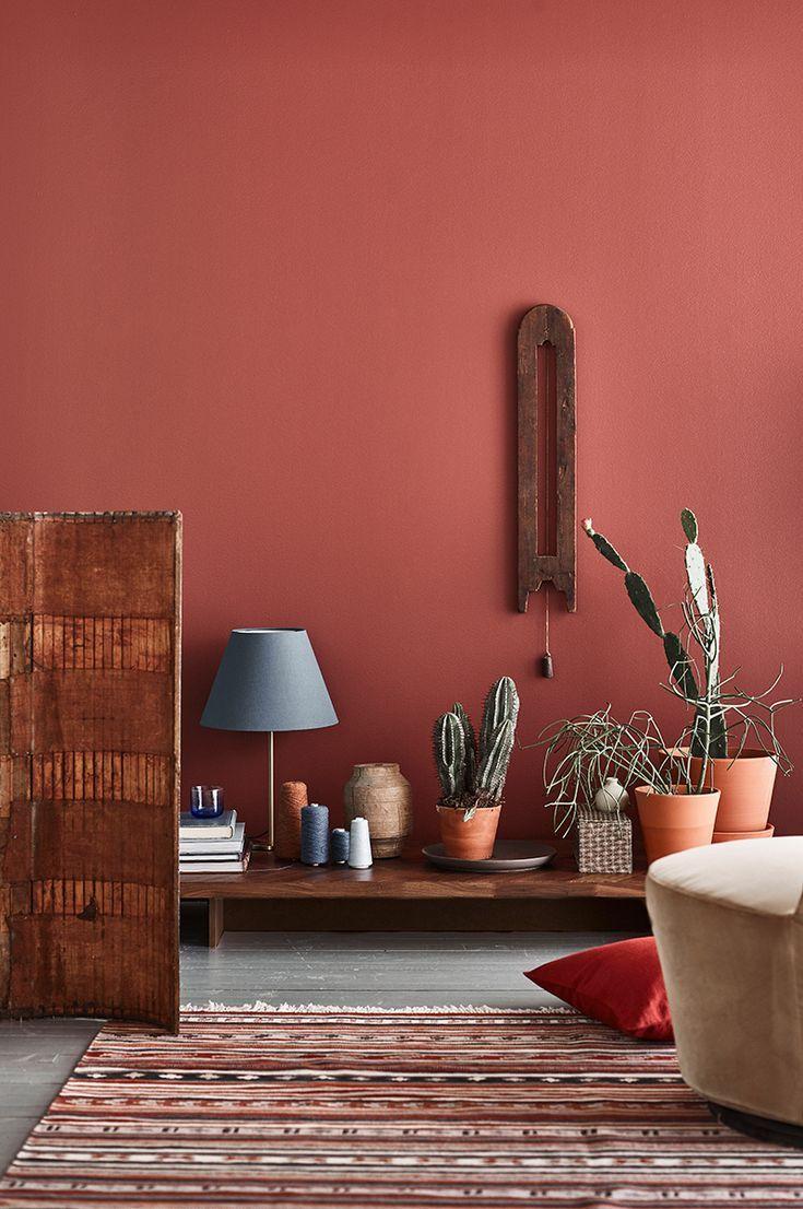 Eine intensive Farbe, um ein Interieur zu erwecken