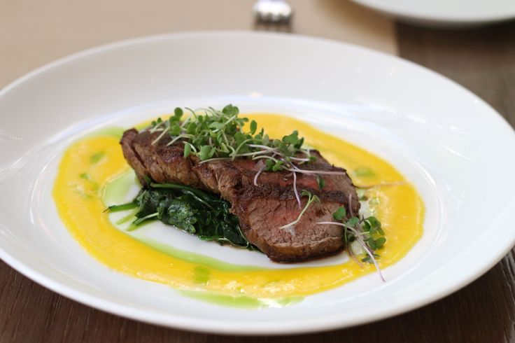Pan Seared Filet Mignon with Buttery Hot Sauce. Recipe created by Chef Ross Mendoza, Pump Room, Chicago.