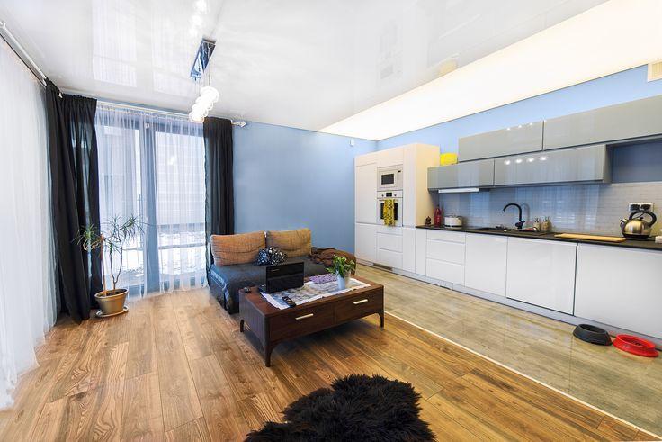 Sufit napinany - różne typy oświetlenia / Stretch ceiling - different types of lighting
