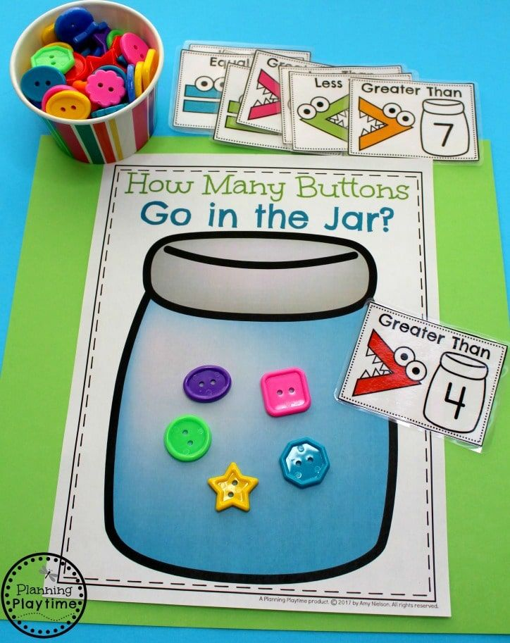 Comparing Numbers Worksheets Planning Playtime Kindergarten Math Kindergarten Math Activities Kindergarten Math Units Fun activities for kindergarten