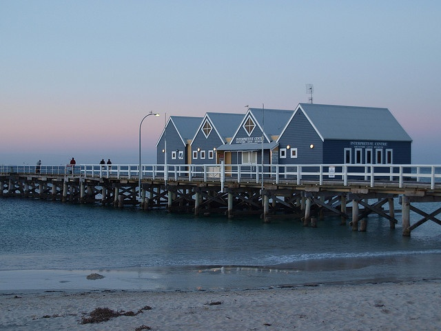 The 140-year-old Busselton Jetty in Perth, measured at 1841 metres, is the longest wooden jetty (pier) in the southern hemisphere and today is one of Australia's most unique eco-tourism sites.