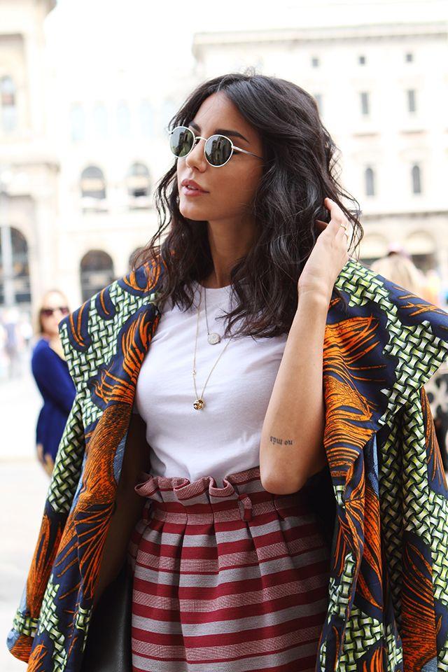 Chiara Biasi in Stella Jean Milan Fashion Week Street Style ss15 photo by Claudia Bellotti for Tessabit