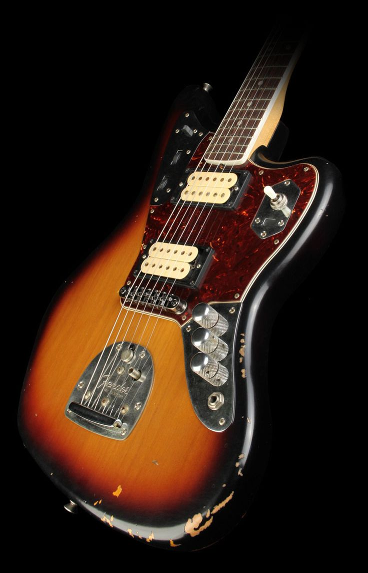 fender kurt cobain signature jaguar electric guitar 3 tone sunburst guitar strat guitar used. Black Bedroom Furniture Sets. Home Design Ideas