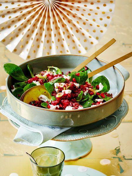 Wie praktisch, wenn sich im Partysalat lauter Superfoods verstecken.