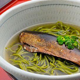 京風鰊 (にしん) の抹茶そば錦一葉 (ニシキイチハ)
