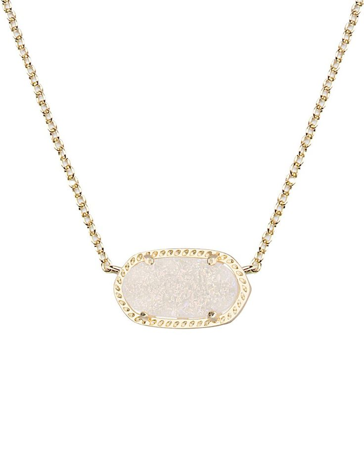 Elisa Pendant in Iridescent Drusy - Kendra Scott Jewelry. Just added this one to my collection - simple, but sparkles!
